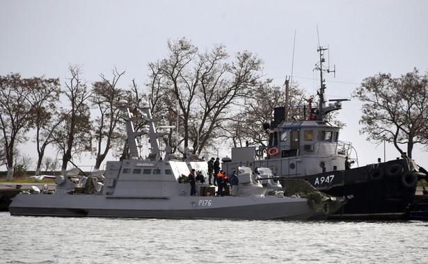 Zatrzymane ukraińskie okręty w Kerczu