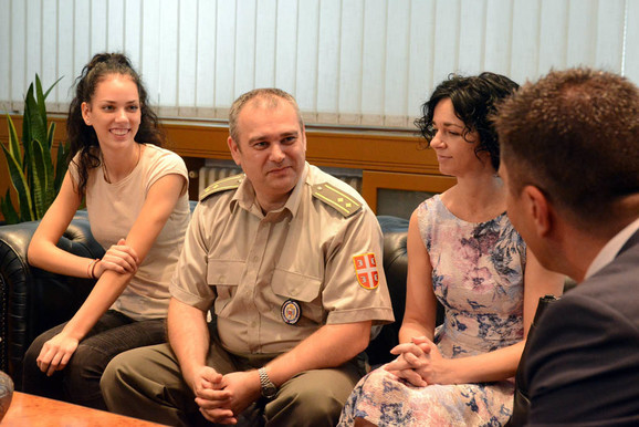 Porodica Bogdanović kod minstra