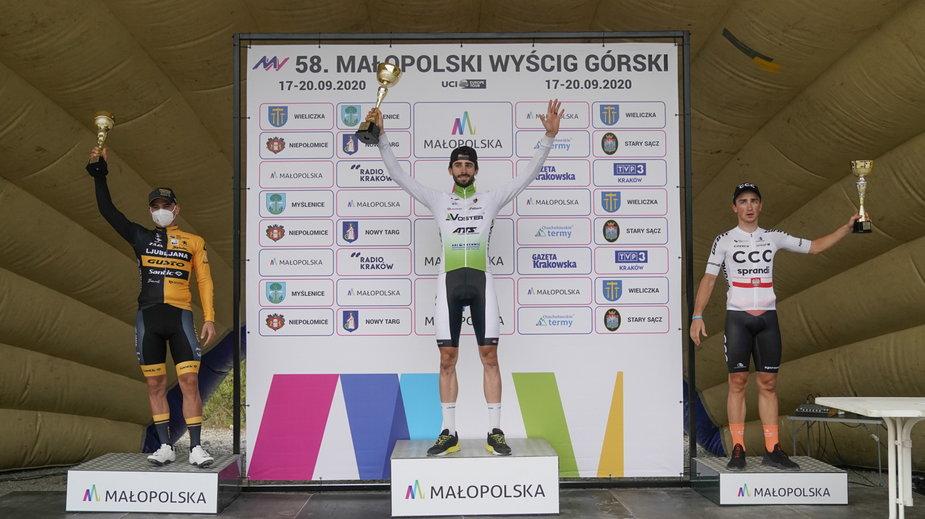 Piotr Brożyna na najwyższym stopniu podium