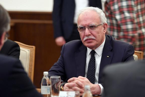 Ministar spoljnih poslova Palestine Rijad Al Maliki