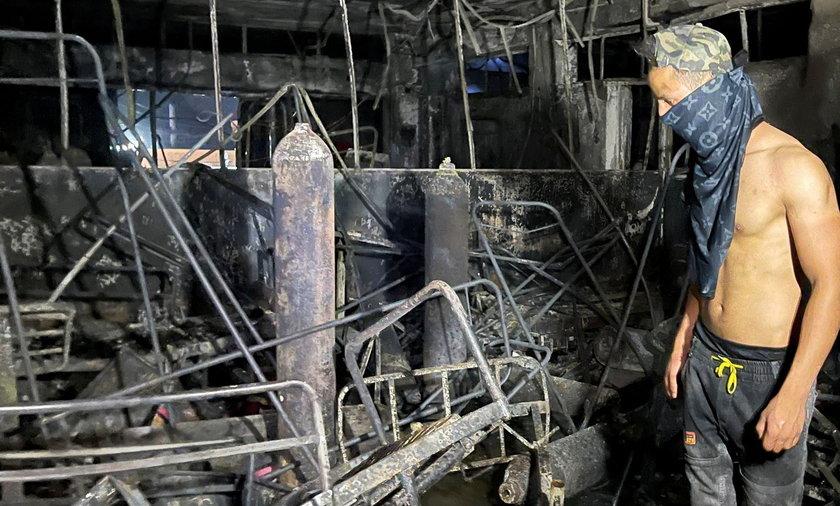 Tragiczny pożar na oddziale covidowym w Bagdadzie.