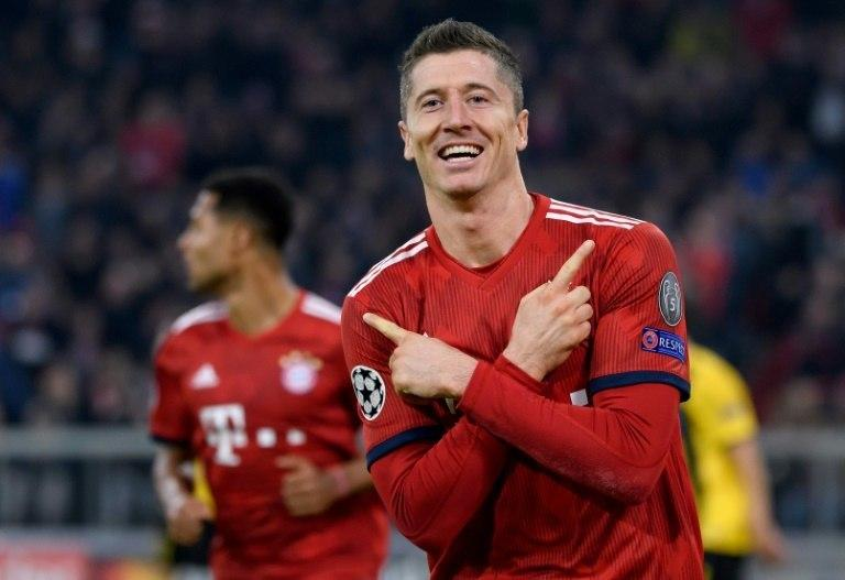 Robert Lewandowski scored both goals for Bayern Munich in Wednesday's 2-0 win at home to Greek side AEK