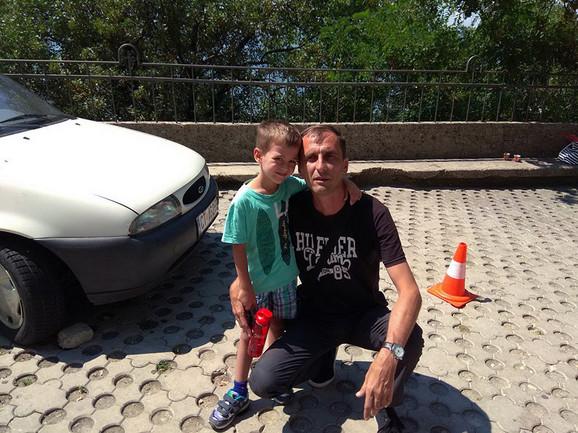 Nikola Dunović sa ocem Goranom