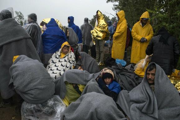 Migranti kod mesta Berkasovo u blizini srpsko-hrvatske granice