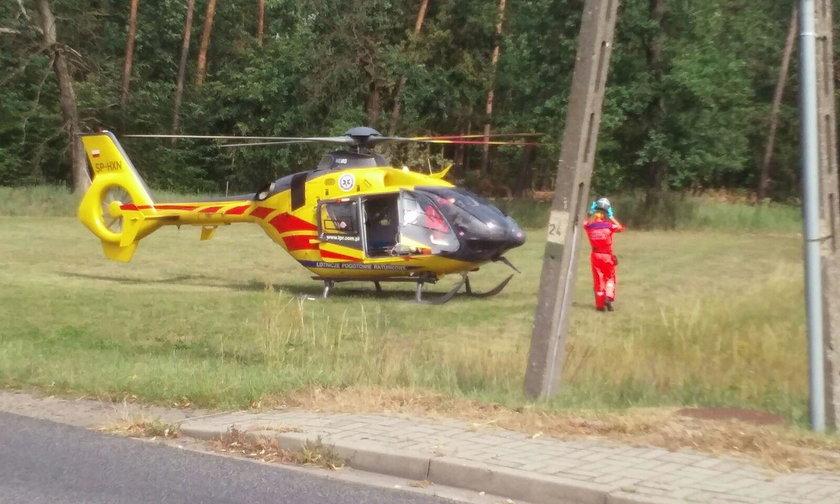 Kierującą przetransportowano do szpitala w Opolu