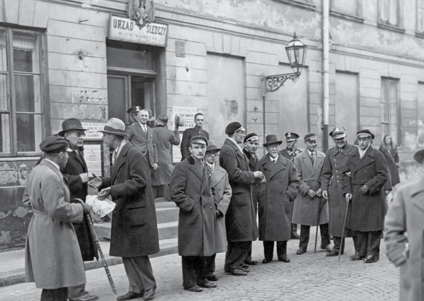 fot. NACA Antyżydowskie protesty na Uniwersytecie Warszawskim, 1936 r.