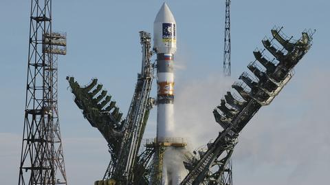 Rosyjska rakieta Sojuz wynosi na orbitę satelitę - element systemu Galileo, grudzień 2005