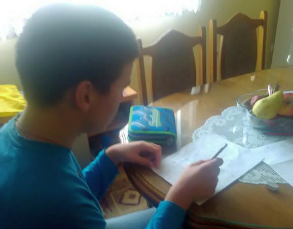 Pre dolaska u školu dečak je već znao da čita i piše, što je unatno znatno olakšalo rad sa njim