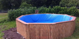 Zrobił basen z palet! Niesamowite
