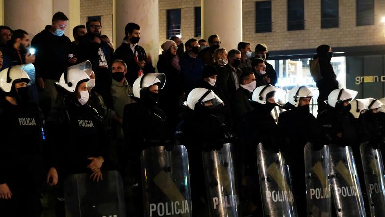 Protesty w Warszawie 28 października 2020 12