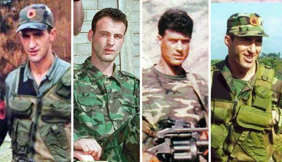Daut Haradinaj, Fatmir Ljimaj, Hašim Tači i Ramuš Haradinaj u OVK