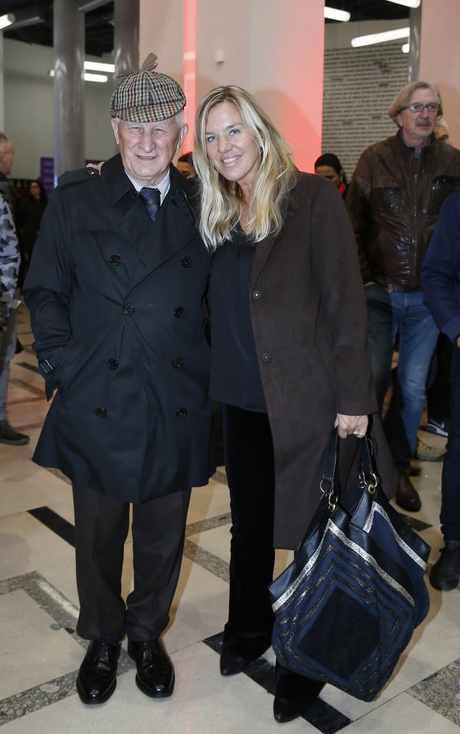 Matija Bećković sa ćerkom Ljudmilom