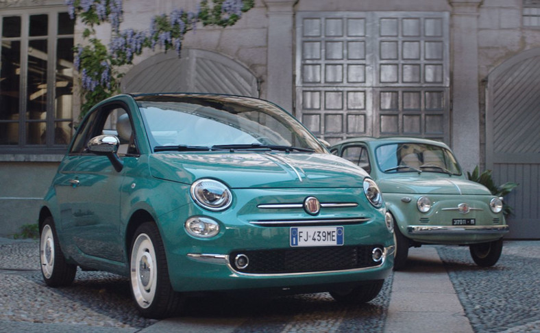 Fiat 500 Anniversario i jego przodek