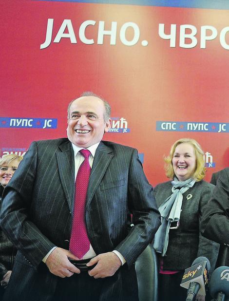 Direktorka Mira sa svojim partijskim šefom Milanom Krkobabićem