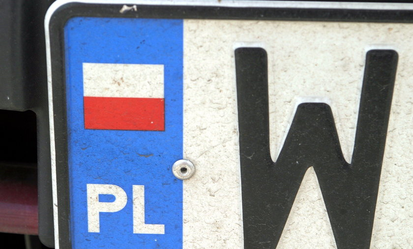tablica rejestracyjna ilustracja