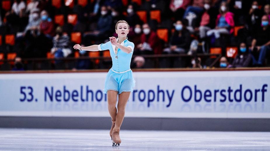 Jekatierina Kurakowa w zawodach Nebelhorn Trophy