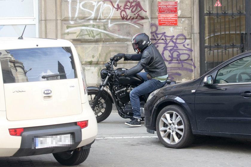Alan Andersz na motocyklu