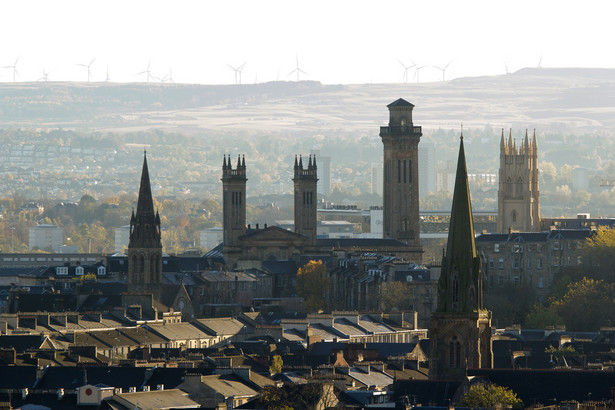 Panorama Glasgow, Szkocja.