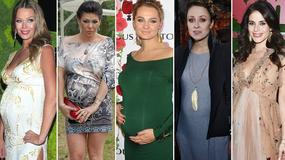 Ciążowe krągłości na salonach. Które gwiazdy nie kryją szczęścia na ściankach?