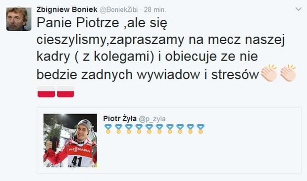 Tweet Zbigniewa Bońka fot. Twitter/BoniekZibi