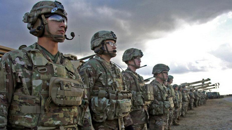 Żołnierze z 3. Dywizji Piechoty USA podczas ćwiczeń w Drawsku Pomorskim (11.03.2020)