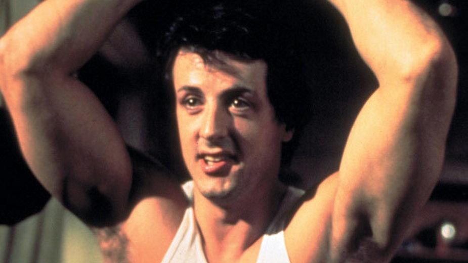 "Sylvester Stallone jako Rocky Balboa w filmie ""Rocky"" (1976)"