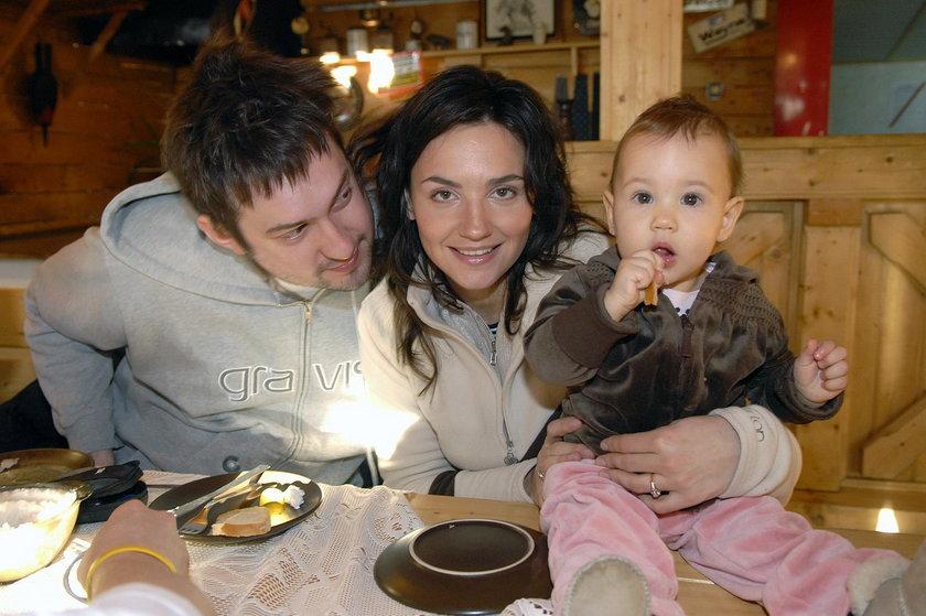 Marcin Prokop z żoną i córką