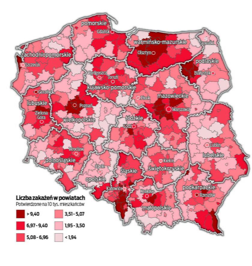 Polska robi się czerwona