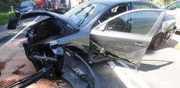 Karambol pod Nowym Sączem. 6 osób rannych