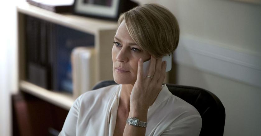 "Aktorka Robin Wright jako Claire Underwood w serialu ""House of Cards"""