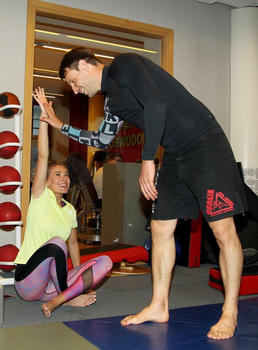 Marcelina Zawadzka i Tomasz Wolny na treningu