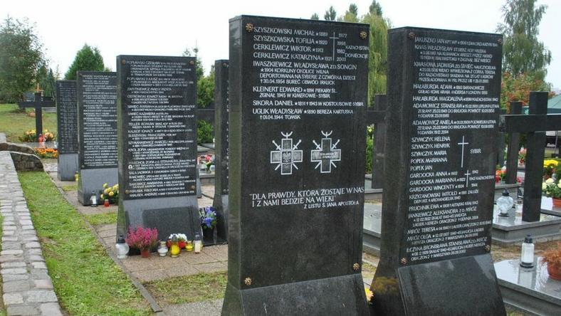 Cmentarz Łostowicki w Gdańsku, miejsce pamięci deportowanych na Syberię Polaków