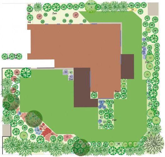 Balkon W Domu Jednorodzinnym: Fajnie Zaprojektowany Ogród Przy Domu Jednorodzinnym W