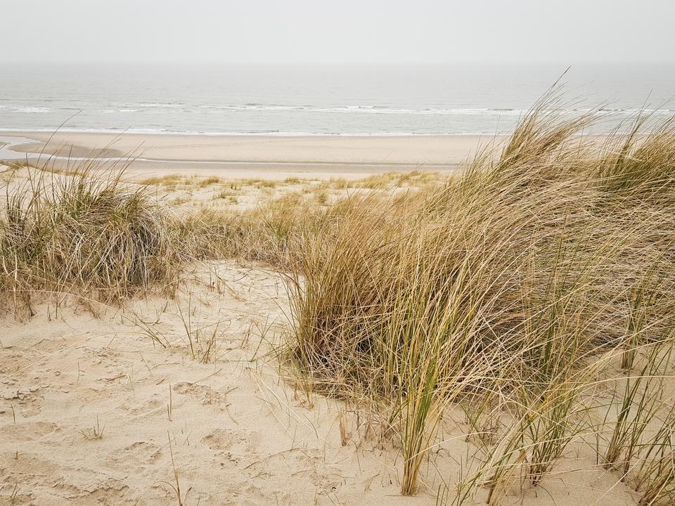 Noordwijk na zachodzie Holandii nad Morzem Północnym.