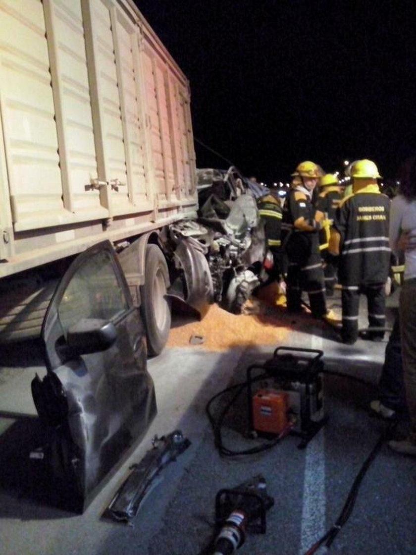Kierowcy ciężarówki nic się nie stało