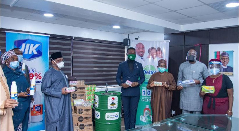 COVID-19: Dettol and Jik donate hygiene products to the Federal Ministry of Health