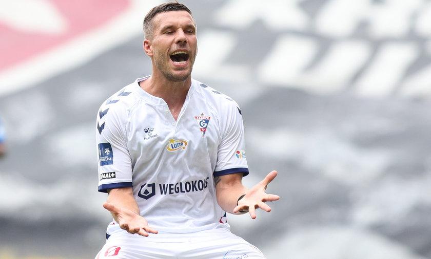 Lukas Podolski zagrał pierwszy sparing w barwach Górnika Zabrze.