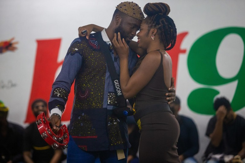 Gedoni and Khafi looking so intimate together. [BBNaija Content Bank]