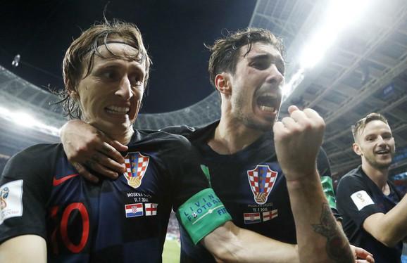 Luka Modrić, Šime Vrsaljko i Ivan Rakitić slave prolazak u finale Mundijala