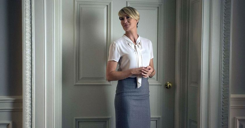 """Claire Underwood z serialu """"House of cards"""" jest zawsze idealnie ubrana"""