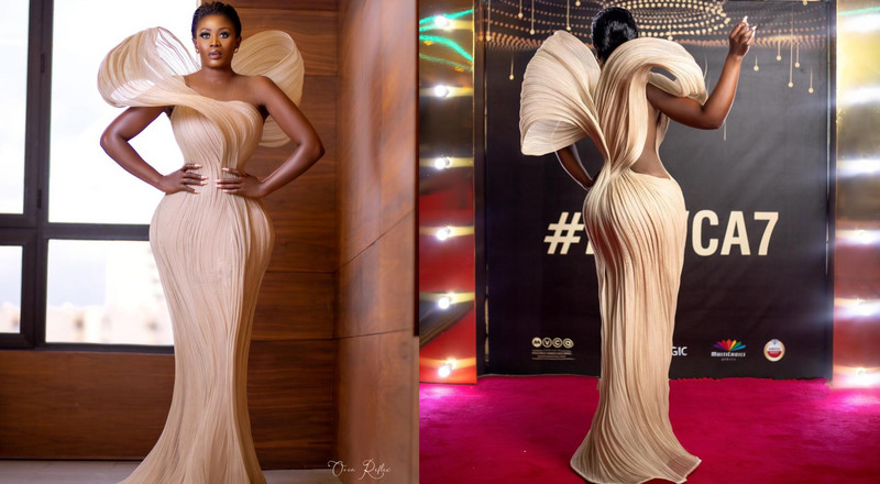 Nana Akua Addo storms Nigeria with gorgeous dress for AMVCA