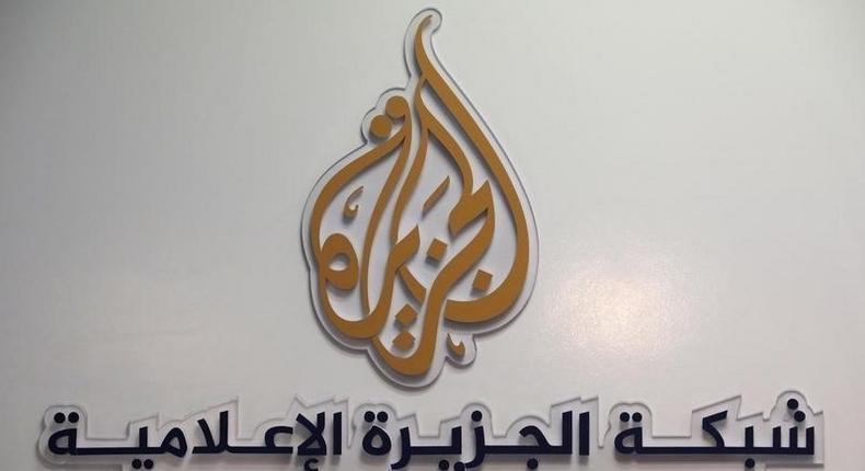 The logo of Al Jazeera Media Network.  REUTERS/Eric Gaillard