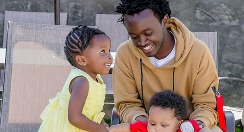 Bahati's romantic photo with Diana Marua elicits reactions