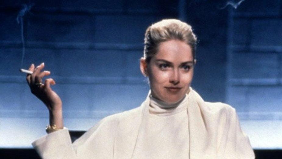 """Sharon Stone w """"Nagim instynkcie"""", reż. Paul Verhoeven, 1992 r."""