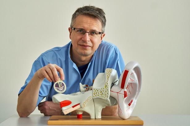 Dr med. Marcin Konior - laryngolog , uczestnik konkursu Eureka Fot. Paweł Ulatowski