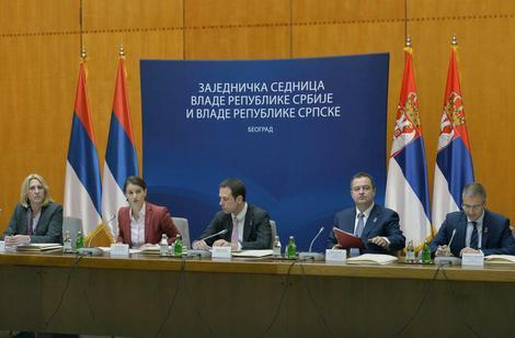 Dve vlade održale su danas zajendiku sednicu u Beogradu