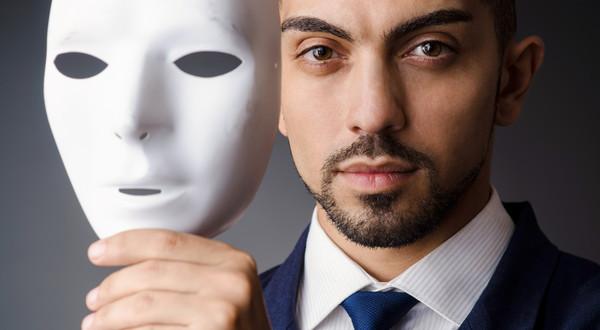 Maska prawdziwego mężczyzny.