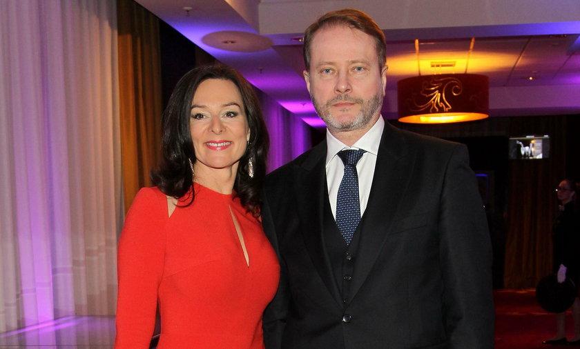Artur Żmijewski z żoną Pauliną