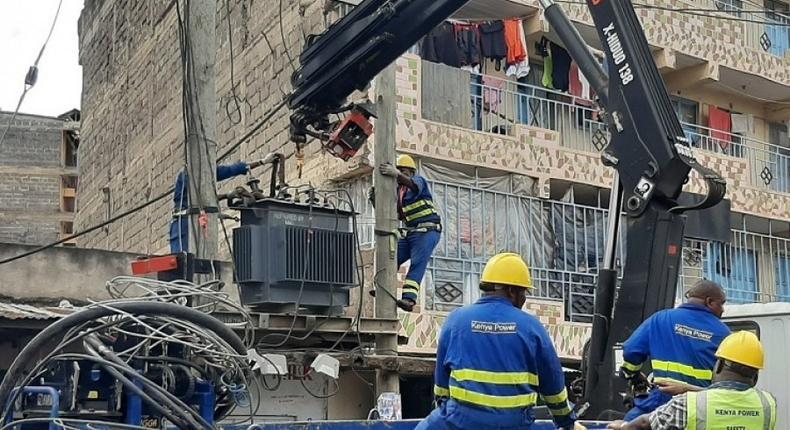 Kenya Power employees at work
