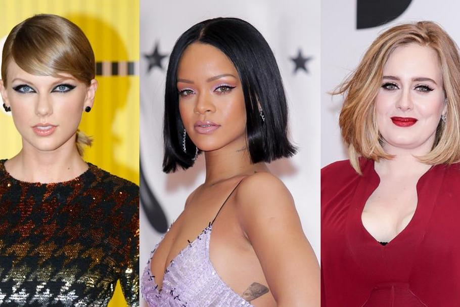 Taylor Swift Rihanna Adele